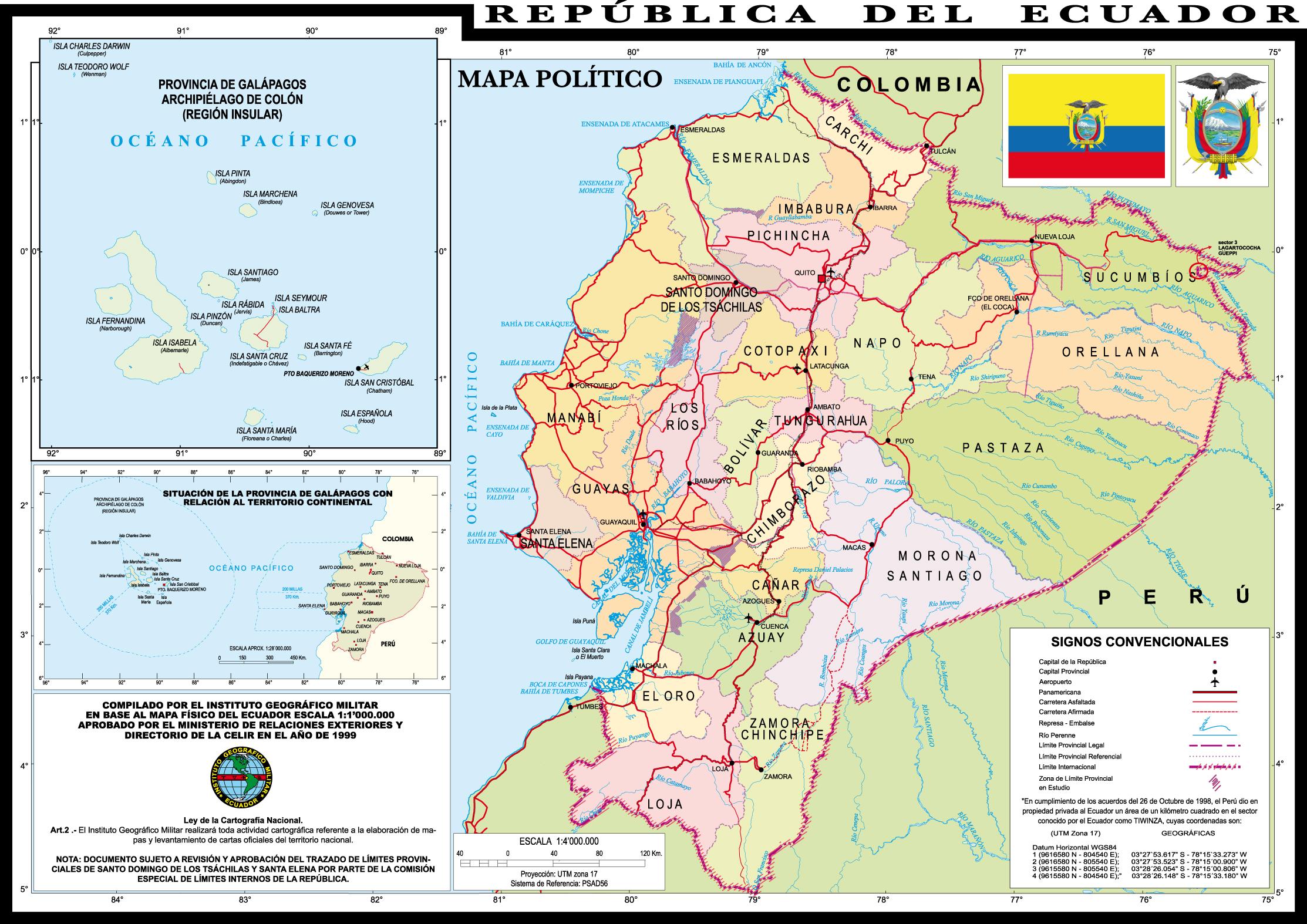 mapas mundo ecuador mapa politico